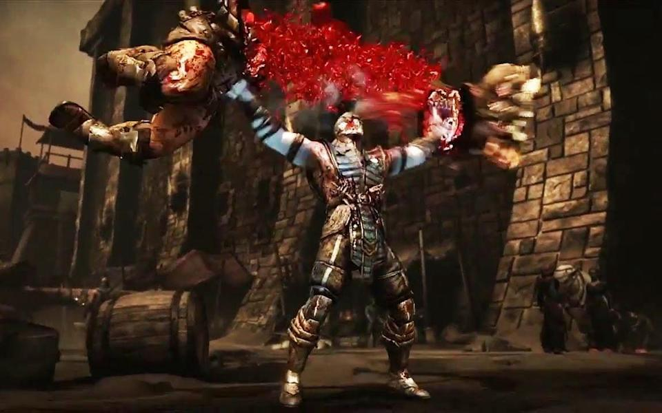 A typically subtle fatality from Mortal Kombat X