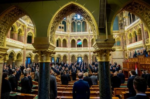 Hungarian parliament speaker Laszlo Kover told the chamber Magyars abroad were 'in a bitter struggle to survive'