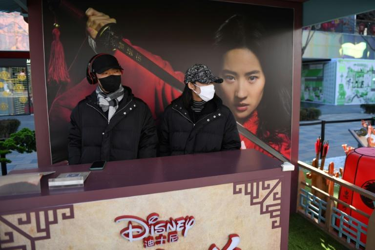 Disney was hoping its new film Mulan -- based on the tale of a legendary Chinese warrior -- would be a huge hit with Chinese audiences (AFP Photo/GREG BAKER)