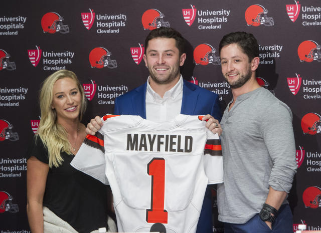 "Baker Mayfield will be the center of attention as the Cleveland Browns are featured on ""Hard Knocks."" (AP)"