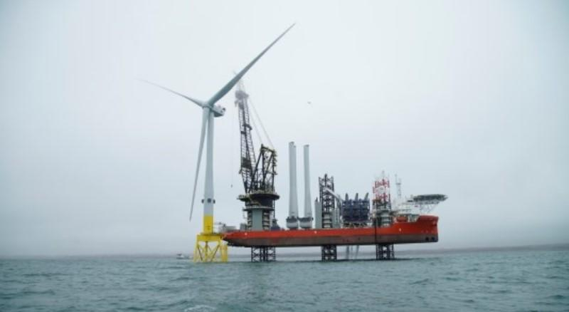 World's most powerful wind turbine installed off the coast of Scotland