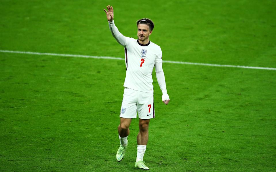 Jack Grealish of England waves to the crowd after the UEFA Euro 2020 Championship Group D match between Czech Republic and England at Wembley Stadium on June 22, 2021 in London, England. - GETTY IMAGES