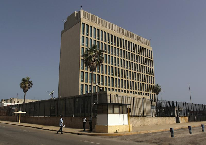 The building of the the U.S. diplomatic mission in Cuba, the U.S. Interests Section, (USINT), is seen in Havana, July 1, 2015. The United States and Cuba on Wednesday formally agreed to restore diplomatic ties that had been severed for 54 years, fulfilling a pledge made six months ago by the former Cold War enemies. U.S. President Barack Obama and Cuban President Raul Castro exchanged letters agreeing to reopen embassies in each other's capitals, with the Cubans saying that could happen as soon as July 20. REUTERS/Stringer