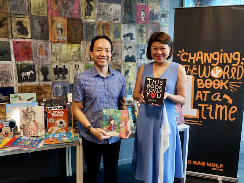 Co-Founders of Big Bad Wolf Books, Andrew Yap and Jacqueline Ng, showcasing some exiting new titles that will be available at the 10th anniversary of Big Bad Wolf Book Sale KL.