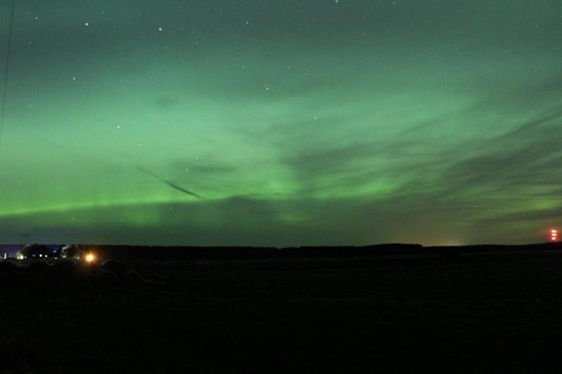 The stunning phenomenon above from Kinloss in Moray, Scotland: PA