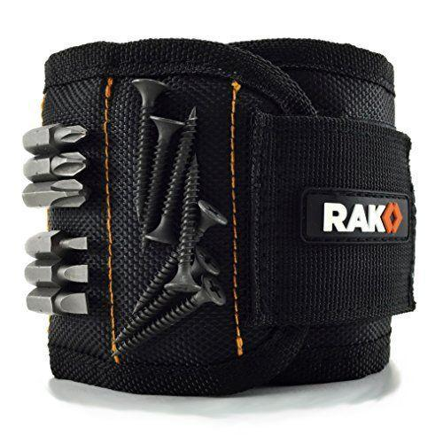 """<p><strong>RAK</strong></p><p>amazon.com</p><p><strong>$16.99</strong></p><p><a href=""""https://www.amazon.com/dp/B01HRCU3SW?tag=syn-yahoo-20&ascsubtag=%5Bartid%7C2141.g.29492086%5Bsrc%7Cyahoo-us"""" rel=""""nofollow noopener"""" target=""""_blank"""" data-ylk=""""slk:Shop Now"""" class=""""link rapid-noclick-resp"""">Shop Now</a></p><p>Who needs pockets? This wristband holds small metal objects, so the next time pops is working on a project, he can stick screws, drill bits, and any other hardware to his arm with ease.</p>"""