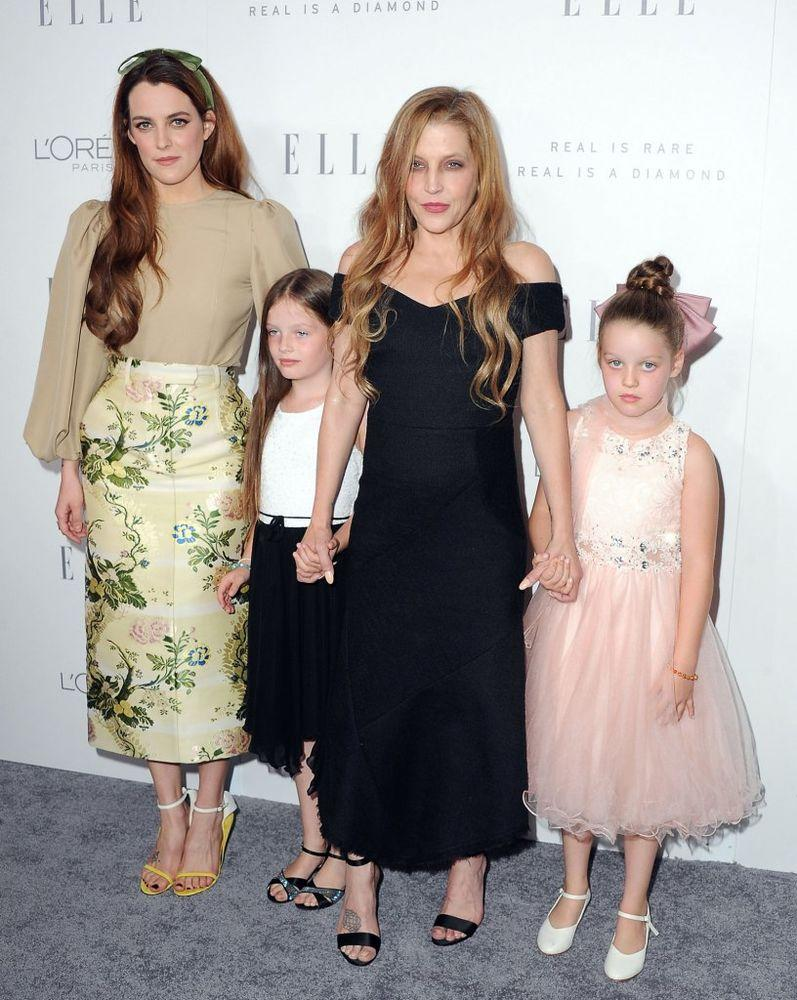 Lisa Marie Presley with daughters Riley Keough, Harper and Finley in October 2017