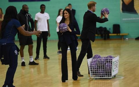 The Sussexes join in at Loughborough University - Credit: Eddie Mulholland For The Telegraph