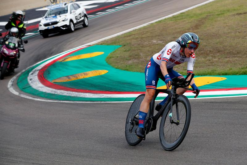 IMOLA ITALY SEPTEMBER 24 Elizabeth Banks of The United Kingdom during the 93rd UCI Road World Championships 2020 Women Elite Individual Time Trial a 317km stage from Imola to Imola ITT ImolaEr2020 Imola2020 on September 24 2020 in Imola Italy Photo by Bas CzerwinskiGetty Images