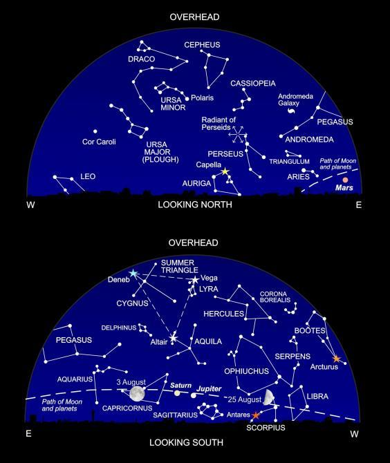 The night sky at around 11pm this month (Nigel Henbest)