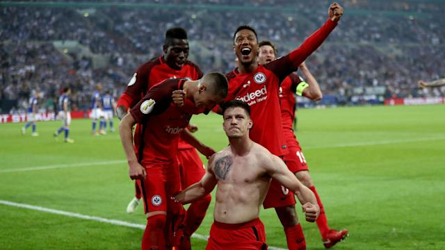 Luka Jovic scored the only goal of the game as Eintracht Frankfurt set up a DFB-Pokal final against Bayern Munich on May 19.