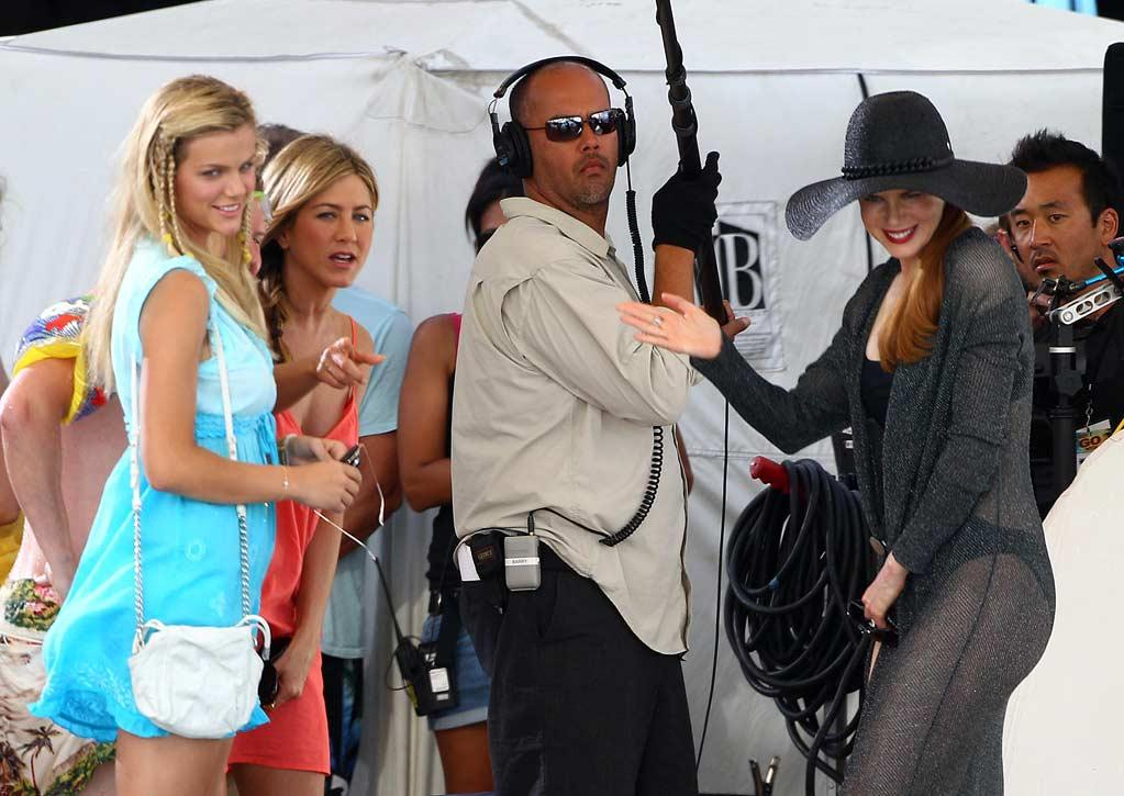 """Blond bombshell Brooklyn Decker, who's best known as the cover girl of the 2010 <i>Sports Illustrated</i> swimsuit issue, will make her big-screen debut in the flick. But it looks like pros Jen and Nicole gave her a warm welcome! <a href=""""http://www.infdaily.com"""" target=""""new"""">INFDaily.com</a> - May 6, 2010"""