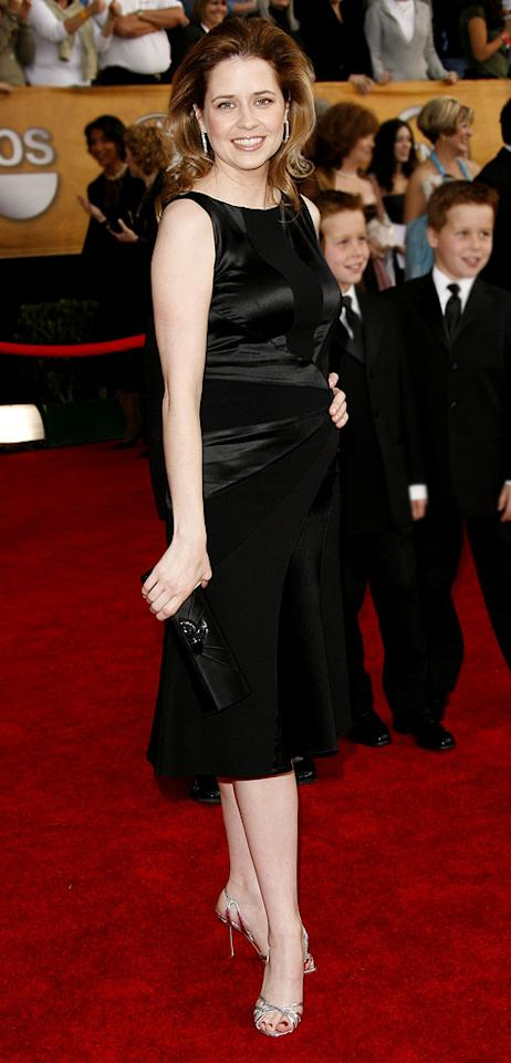 """<a href=""""/jenna-fischer/contributor/397148"""">Jenna Fischer</a> at the <a href=""""/the-2007-screen-actors-guild-awards/show/40550"""">13th Annual Screen Actors Guild Awards</a>."""