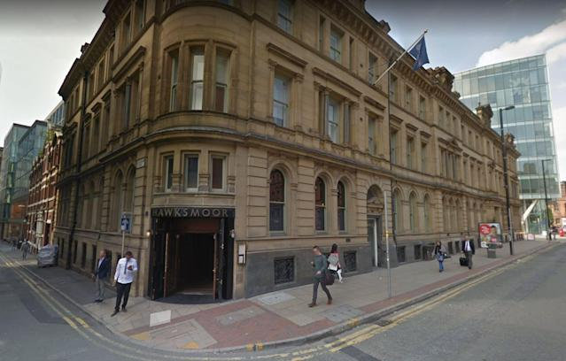 The mistake happened at Hawksmoor Manchester (Picture: Google Maps)
