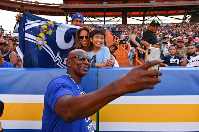 Eric Dickerson is a man of the people. (Photo by Alika Jenner/Getty Images)