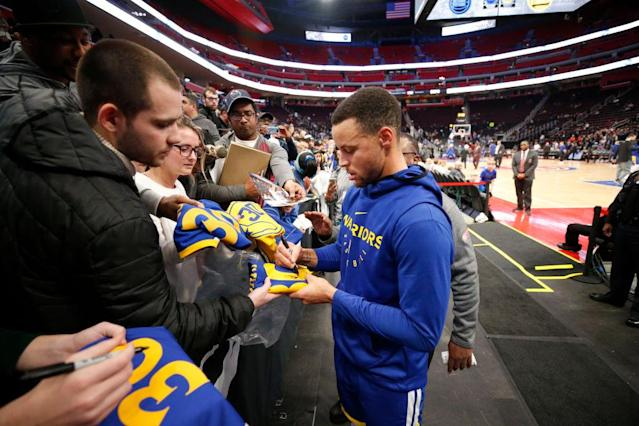Everyone loves Steph, from Detroit (pictured here) to Atlanta and beyond. (Getty)