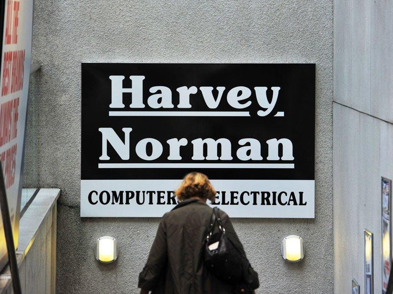 Harvey Norman  profits down almost 40%