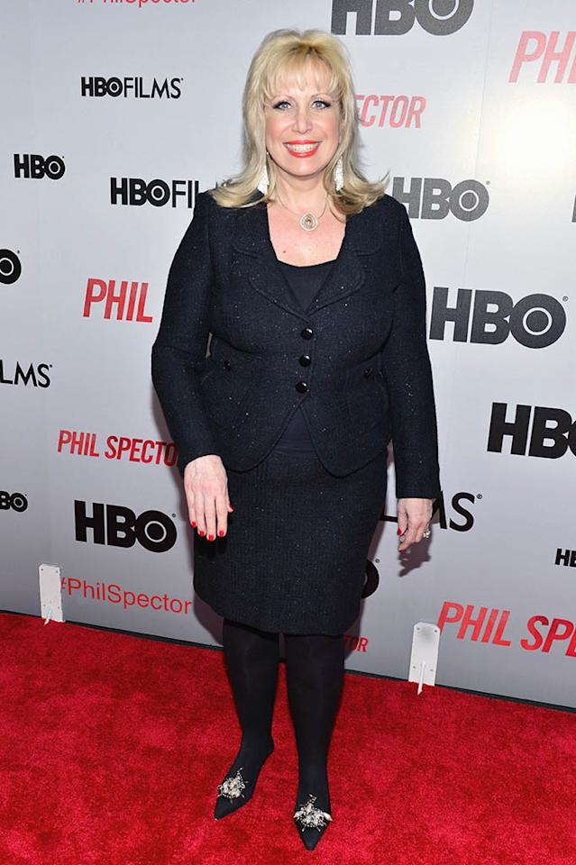 "Linda Kenney Baden attends the ""Phil Spector"" premiere at the Time Warner Center on March 13, 2013 in New York City."