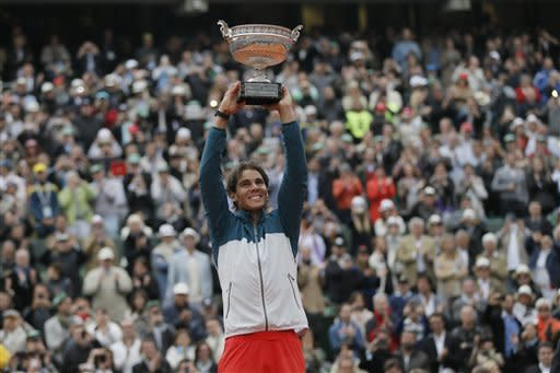 Nadal beats Ferrer for record 8th French Open win