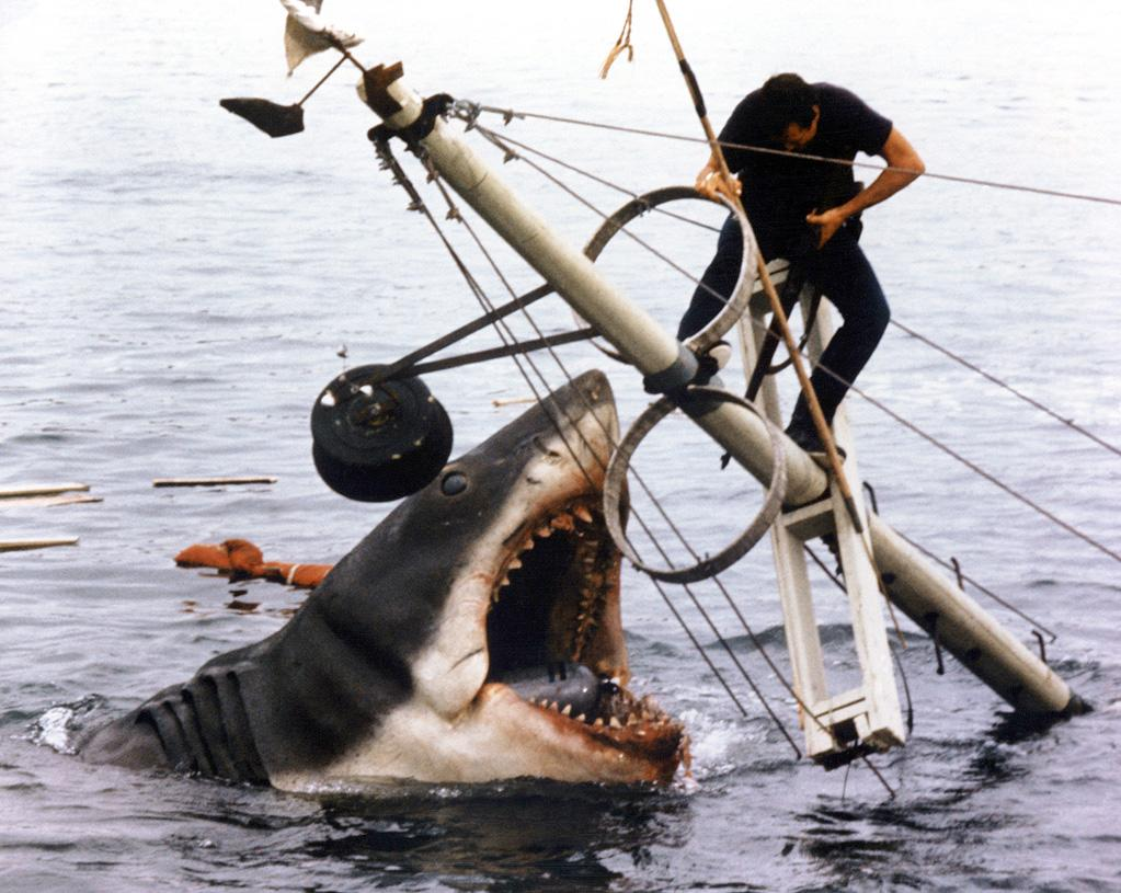 "3. Jaws, <a href=""http://movies.yahoo.com/movie/1800082735/info"">Jaws</a>   With razor-sharp teeth, an insatiable thirst for blood, and an Academy Award-winning film score courtesy of John Williams, ""Jaws"" bit its way onto the big screen and into the record books in the summer of '75 by devouring Amity Island's innocent beachgoers and scaring up more than $470 million at the box office."
