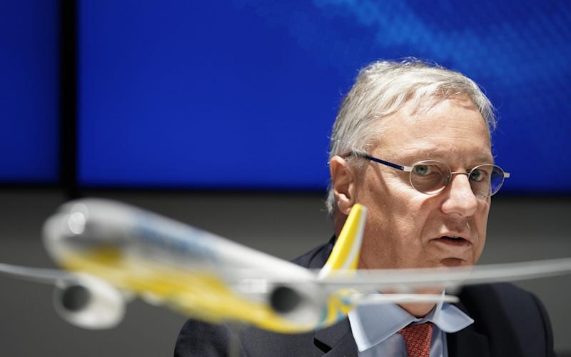 Christian Scherer, the chief commercial officer for Airbus - Bloomberg
