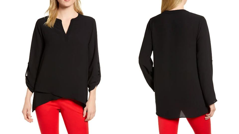 Gibsonlook x International Women's Day Erin Cross Front Tunic Blouse - Nordstrom, $21 (originally $49)