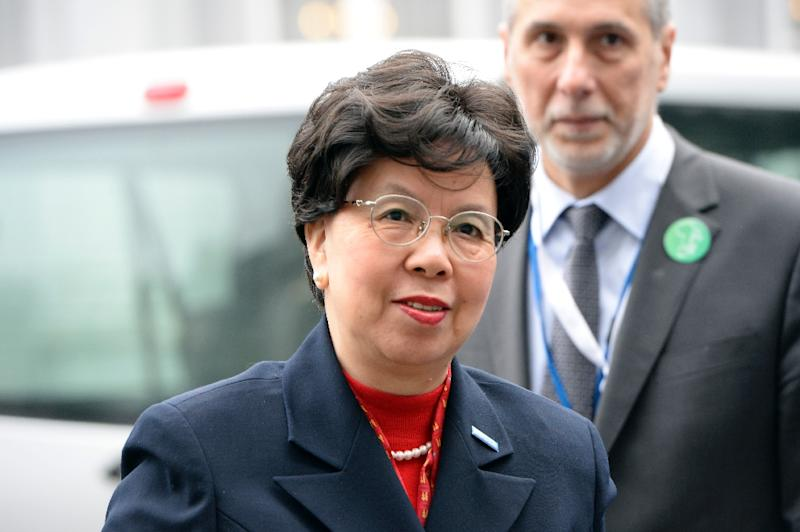 World Health Organisation chief Margaret Chan on March 3, 2015 in Brussels (AFP Photo/Thierry Charlier)