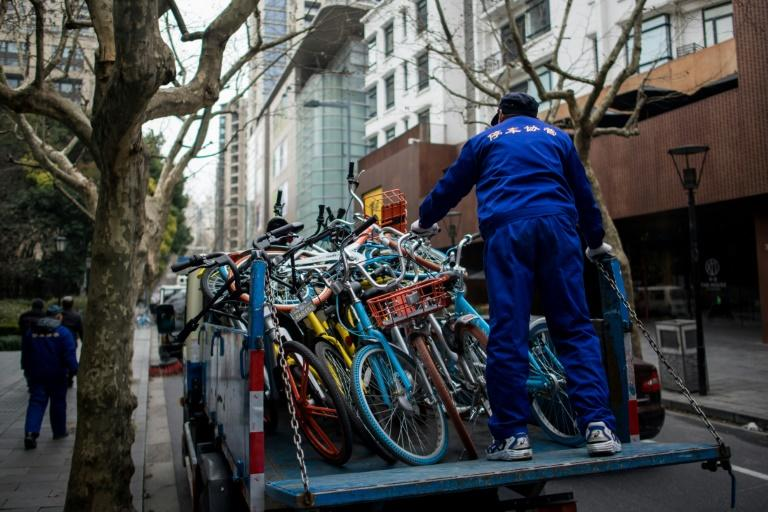 Hundreds of thousands of bikes have been placed in dozens of Chinese cities