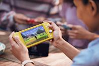<p>Change the way they do screen time with a <span>Nintendo Switch Lite</span> ($200) system, which allows them to play on the go.</p>