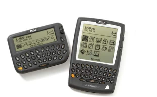 Remember these? Early BlackBerry devices, then made by a tiny Canadian company called Research In Motion, were among the first internet-connected smartphones ever made.  (BlackBerry - image credit)