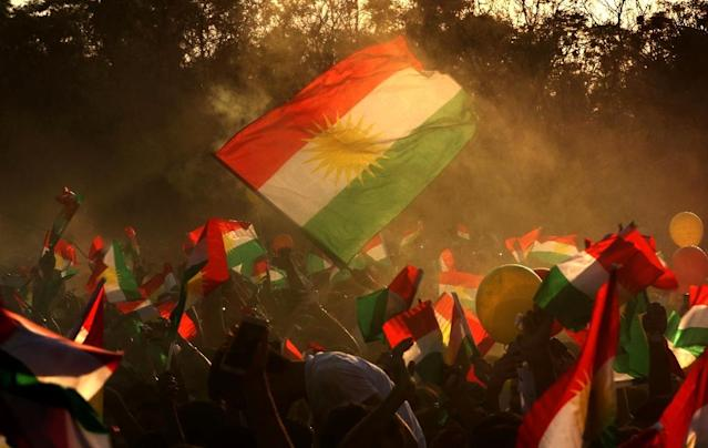 <p>Left without a state of their own when the borders of Europe and the Middle East were redrawn after World War I, the Kurds see themselves as the world's largest stateless people. (Photo: Safin Hamed/AFP/Getty Images) </p>