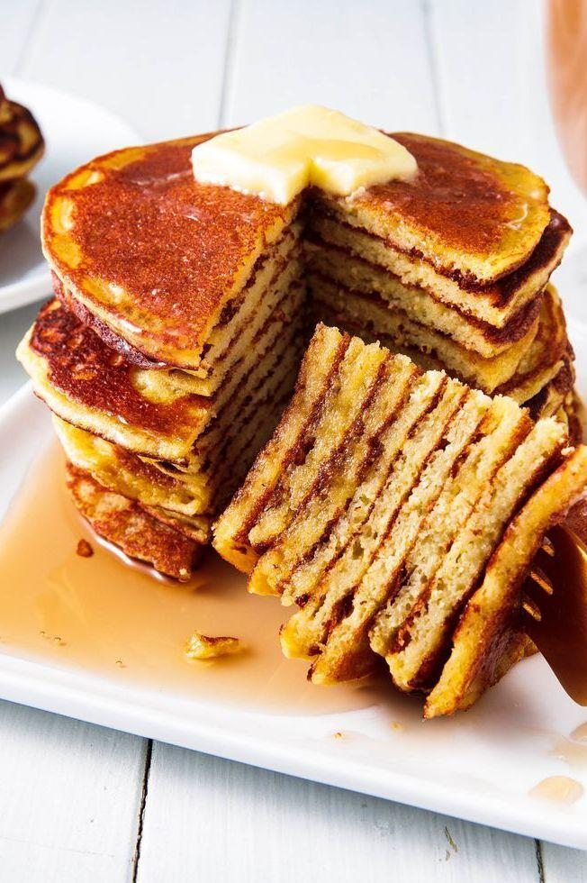 "<p>Whether you're gluten-free or just looking for <a href=""https://www.delish.com/uk/cooking/recipes/g29930155/healthy-breakfast/"" rel=""nofollow noopener"" target=""_blank"" data-ylk=""slk:healthy breakfast recipes"" class=""link rapid-noclick-resp"">healthy breakfast recipes</a>, prepare to fall in love with these pancakes. They're super soft and tender, with just a hint of sweetness.</p><p>Get the <a href=""https://www.delish.com/uk/cooking/recipes/a34767664/coconut-flour-pancakes-recipe/"" rel=""nofollow noopener"" target=""_blank"" data-ylk=""slk:Coconut Flour Pancakes"" class=""link rapid-noclick-resp"">Coconut Flour Pancakes</a> recipe.</p>"