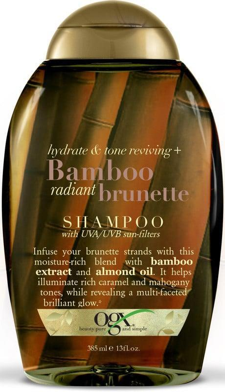 <p>This <span>OGX Bamboo Radiant Brunette Shampoo</span> ($13) gets wonderful reviews on Ulta for adding shine and dimension to brown hair. It also includes UVA/UVB sun filters that prevent dyed hair from fading.</p>