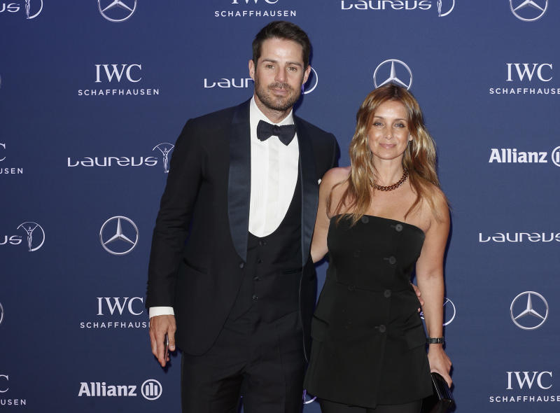Jamie Redknapp and Louise Redknapp attend the Laureus World Sports Awards 2016 at the Messe Berlin on April 18, 2016 in Berlin, Germany. (Photo by Franziska Krug/Getty Images)