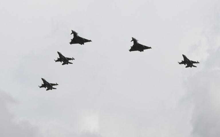 Israeli, German fighter pilots honour Nazi victims with flyover