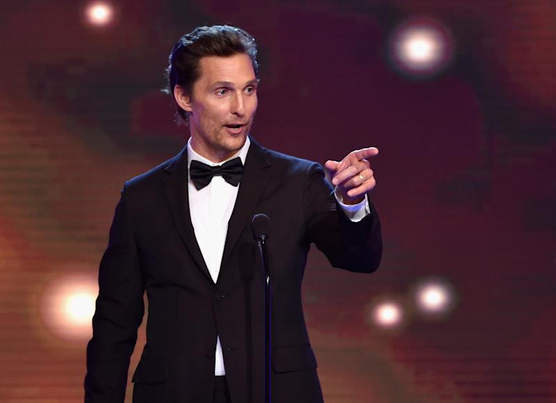 Matthew McConaughey accepts the Best Actor in a Drama Series award for 'True Detective', during the 4th Annual Critics' Choice Television Awards, at The Beverly Hilton Hotel in California, on June 19, 2014