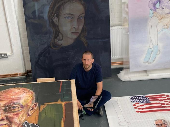 <p>The contemporary painter and sculptor will sell each digital painting for £150</p> (Henry Hudson)