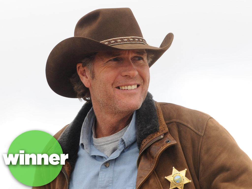 "<b>WINNER: ""Longmire"" (A&E) </b><br><br>A&E's grizzled Wyoming cop drama has rustled up a nice audience in its first season, roping in an average of 3.9 million viewers on a competitive night. And the network definitely likes what it sees; it's already announced it's bringing back Sheriff Walt Longmire and his crew (including Lou Diamond Phillips and ""Battlestar Galactica's"" Katee Sackhoff) for Season 2. Between this, ""Hatfields,"" and ""Dallas,"" it's officially safe to wear a cowboy hat on TV again."