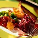 "<p>This is a great vegetarian recipe to use as an alternative to turkey on Christmas Day. Make double the quantity of stuffing and use to also stuff your <a href=""http://www.goodhousekeeping.co.uk/food/recipes/butter-roasted-turkey-1"" rel=""nofollow noopener"" target=""_blank"" data-ylk=""slk:butter-roasted turkey"" class=""link rapid-noclick-resp""><strong>butter-roasted turkey</strong></a>.</p><p><strong>Recipe: <a href=""https://www.goodhousekeeping.com/uk/food/recipes/a537989/red-cabbage-timbales-with-mushroom-stuffing/"" rel=""nofollow noopener"" target=""_blank"" data-ylk=""slk:Red cabbage timbales with mushroom stuffing"" class=""link rapid-noclick-resp"">Red cabbage timbales with mushroom stuffing</a></strong></p>"