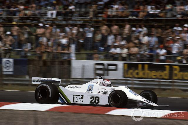 """Clay Regazzoni, Williams Ford-Cosworth FW07, 1979 <span class=""""copyright"""">Sutton Motorsport Images</span>"""