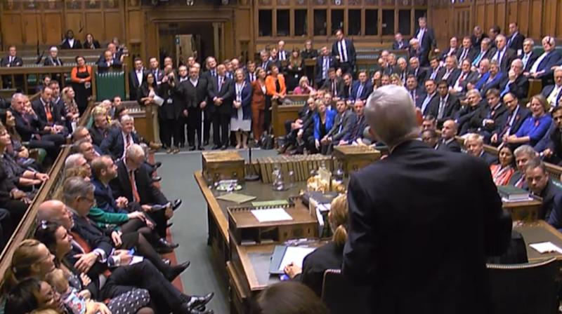 Sir Lindsay Hoyle addresses MPs after becoming the new Speaker of the House of Commons (Picture: PA/Getty)