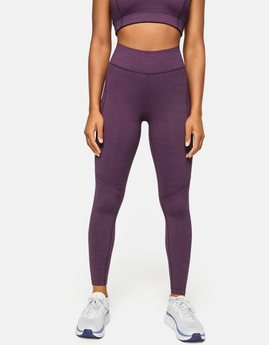 """Made from the brand's """"TechSweat"""" fabric, this plum legging is another solid pick for high-intensity activities. The breathable material makes it ideal for indoor and outdoor workouts, and the waistband's also been revamped to offer more coverage and a better fit. Reviewers say this pair runs small, so keep that in mind if you're in between sizes. $88, Outdoor Voices. <a href=""""https://www.outdoorvoices.com/products/w-Core-7-8-Leggings?"""" rel=""""nofollow noopener"""" target=""""_blank"""" data-ylk=""""slk:Get it now!"""" class=""""link rapid-noclick-resp"""">Get it now!</a>"""