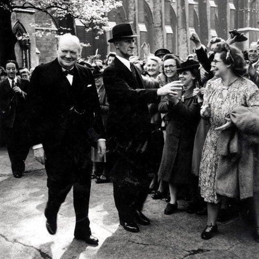 Winston Churchill VE Day - Getty Images/Popperfoto