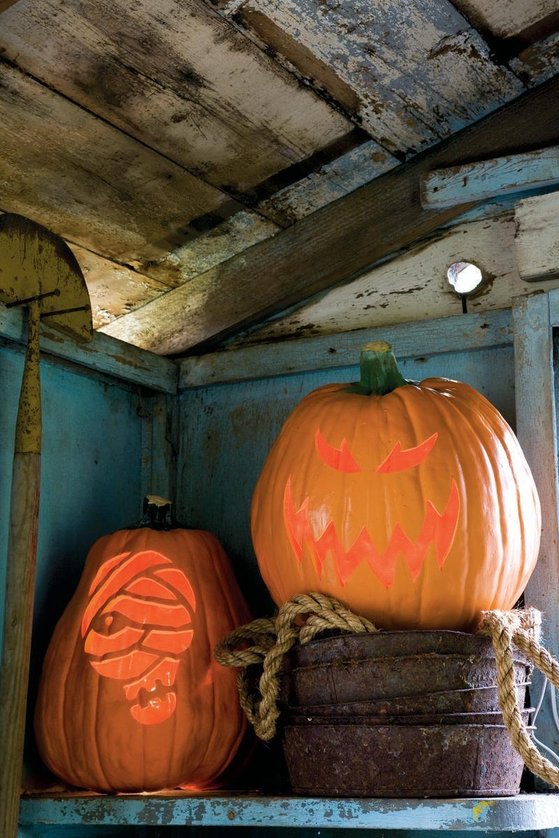 "<p>If you're looking for a more traditional Jack-o-Lantern, look no further than this tutorial!</p><p><strong><em><a href=""https://www.womansday.com/home/crafts-projects/a28712246/hobgoblin-pumpkin/"" rel=""nofollow noopener"" target=""_blank"" data-ylk=""slk:Get the Traditional Jack-o-Lantern tutorial."" class=""link rapid-noclick-resp"">Get the Traditional Jack-o-Lantern tutorial. </a></em></strong> </p>"