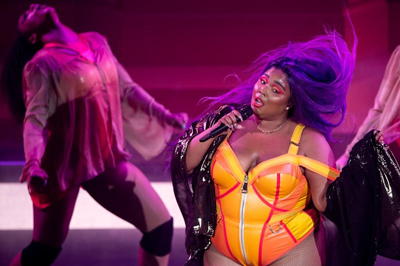 Lizzo performs at the Ryman Auditorium in Nashville, Tenn., Monday, Sept. 30, 2019.