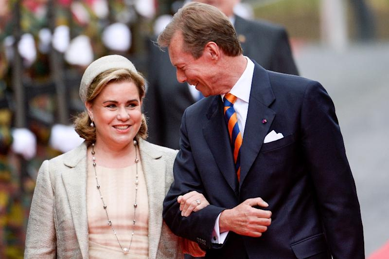 Luxembourg's Grand Duchess Maria Teresa, seen here with Grand Duke Henri, is a Unesco goodwill ambassador (AFP Photo/Frederic Sierakowski)