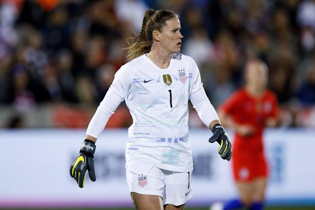 Alyssa Naeher is the USWNT's No. 1 goalkeeper. (Getty)