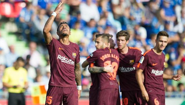 <p>Those expecting free-flowing football from Barcelona after their 3-0 Champions League win over Juventus in midweek were left disappointed as Ernesto Valverde's side struggled for large periods against Getafe.</p> <br><p>The La Liga minnows took the lead through Gaku Shibasaki in the first half but were pegged back in the second period by Denis Suarez, with the former Manchester City youngster equalising just after the hour mark.</p> <br><p>New signing Paulinho made himself a fan favourite seven minutes after his introduction as a substitute, scoring the winner to ensure Barcelona continued their perfect start to the La Liga season.</p>