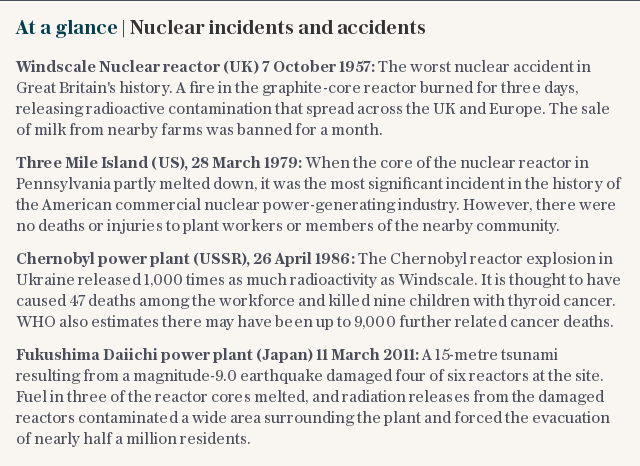 At a glance | Nuclear incidents and accidents