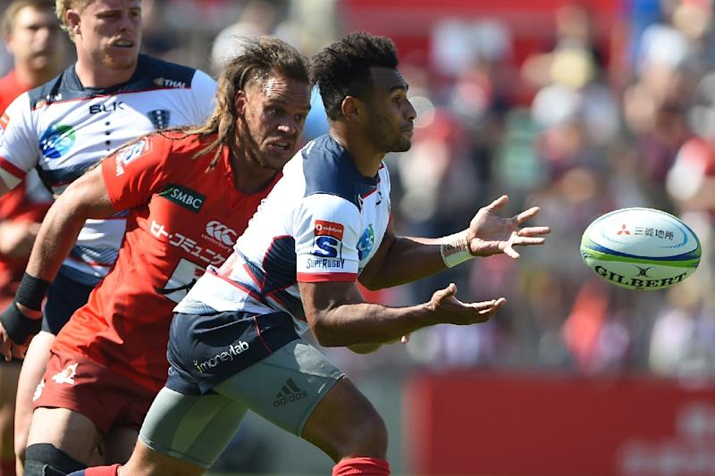 Melbourne Rebels' Will Genia was knocked out during the Super Rugby match against Japan's Sunwolves in Tokyo